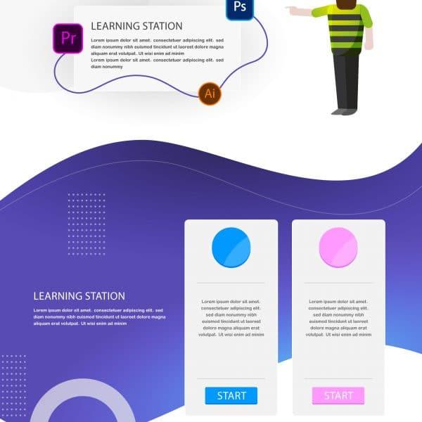 آموزش طراحی UI در ایلستریتور (قسمت اول)